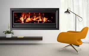 Gas log heating